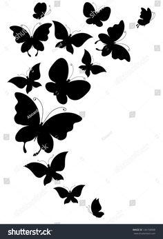 Illustration of butterfly, butterflies, vector vector art, clipart and stock vectors. Find butterflies design stock vectors and royalty free photos in HD. Billedresultat for butterflies Simple Wall Paintings, Wall Painting Decor, Art Decor, Wall Art, Butterfly Drawing, Butterfly Design, Butterfly Painting, Butterfly Music, Butterfly Stencil