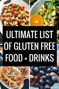 List of Celiac Gluten Free Foods, Drinks, etc Plus, Restaurant help & a list of unsafe things too.  Good to have this as a 'go to' for shopping & eating out. Gluten Free Shopping List, Gluten Free Food List, Gluten Free Flour, Gluten Free Sweets, Gluten Free Cooking, Shopping Lists, Gluten Foods List, Foods With Gluten, What Foods Have Gluten