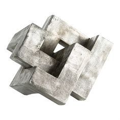 Create a modern statement with this knot sculpture cast in aluminum then antiqued to highlight the surface texture. We love this piece displayed on a surface and at a height that allows it to be viewe