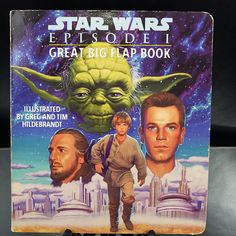 Scrapbooking Star Wars Episode I Big Flap Board Book 1999 Lukasfilm Crafters Cut Outs Repurpose Upcycle