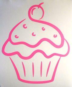 "Cupcake Cherry 5.5"" Sexy Sweet Cool Car Window Vinyl Decal Sticker Choose Color #TheStickerEmporium"