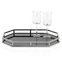 Metropolitan Tray - Hexagon by Z Gallerie Affordable Modern Furniture, Affordable Home Decor, Coffee Table Tray, Bar Tray, Bathroom Tray, Ottoman Tray, Luxury Dining Room, Hexagon Shape, Hexagon House
