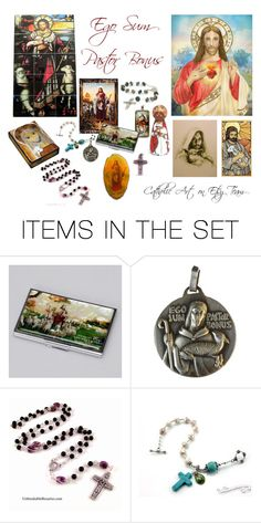 """The Good Shepherd - Catholic Art on Etsy Team"" by terrytiles2014 on Polyvore featuring arte"