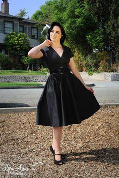 Birdie Party Dress in Black