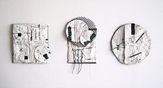 Fragments Textiles, Abstract Drawings, Textile Art, Miniatures, Collage, Clock, Design Inspiration, Artist, Pictures