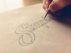 Hand lettering - Simple Sketch by Sean McCabe