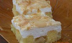 Rebarborový koláč se sněhovou čepicí Feta, Camembert Cheese, Sweets, Baking, Cake, Desserts, Recipes, Pastries, Therapy