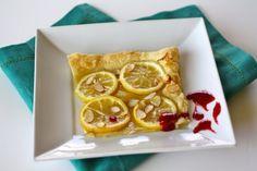 Puff Pastry Lemon Tart with Raspberry-Chambord Sauce | Tasty Kitchen: A Happy Recipe Community!