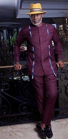 Nigerian Men Fashion, African Print Fashion, African Fashion Dresses, African Attire For Men, African Wear, African Dress, Ankara Styles For Men, Kente Styles, Afro Style