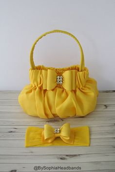 b2d97579fd47 Yellow Bow Baby Handbag, Flower Girl Purse, Baby Toddler Yellow Purse,  Yellow Baby Bow purse, Photo Prop, Yellow Bow Handbag, 687