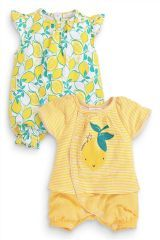 Two Pack Rompers (0-18mths)