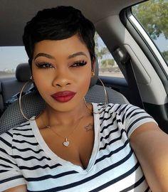 20 African American Short Pixie Haircuts 2019 De 2018 Corte De