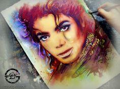 Cartas para Michael: A arte de Nate Giorgio (05) Michael Jackson Art, Jackson's Art, Halloween Face Makeup, Letters