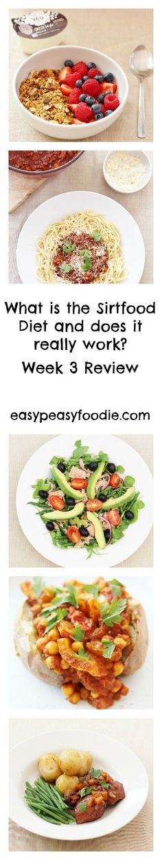 I have finally finished the Sirtfood Diet!!! But how did I get on in week 3? Did I lose any more weight? And what are my reflections on the diet overall? Here's my Sirtfood diet week 3 review… #sirtfood #sirtfooddiet #sirtfoodrecipes #sirtfooddietreview #greenjuice #healthyfood #weightloss #weightlossplan #easypeasyfoodie #cookblogshare Entree Recipes, Easy Dinner Recipes, Great Recipes, Healthy Recipes, Healthy Meals, Recipe Ideas, Healthy Food, Favorite Recipes, Midweek Meals