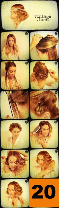 When creating your own #Halloween costume this year, hair and makeup is very important. If you are going for a classic look, try this vintage pincurl bob. This hair can be used for lots of costume ideas ranging from a Gatsby girl to silent film star to an old school gangster lady. #31DaysOfAutumn #Day20 theskinclinicinc.com