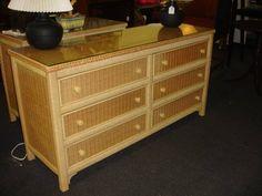wicker Bureau dresser - $60