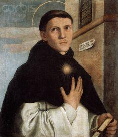 Antono Badile (Verona, Italy, 1516-1560) ~ Portrait of Friar Salvo Avanzi ~ Antonio Badile was an Italian painter from Verona. He is the grandson of the Veronese 15th century painter Giovanni Badile.