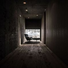 Minimalist  L House Building as Modern Resort in Niseko: Fabulous L House Design Interior In Hallway Decorated With Rustic Room Completed Wi...