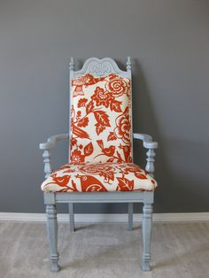 Reupholster old furniture @Audrey Johnson reminds me of your chairs you've done:)