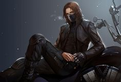 Bucky Barnes - The Winter Soldier fan art. Another version of the one I just repinned. It's still cool, but I prefer the version without the mask.