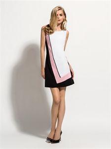 Laura Bernal vestido tricolor nueva colección disponible   www.enriquepellejeromoda.com 63d1838595ab