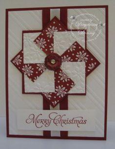 Christmas cards handmade design ideas 40 - Creative Maxx Ideas - card making Homemade Christmas Cards, Christmas Cards To Make, Xmas Cards, Homemade Cards, Handmade Christmas, Holiday Cards, Christmas Tree, Stampinup Christmas Cards, Cricut Christmas Cards