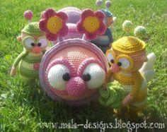 mushrooms crochet pattern by mala designs by malaDesign on Etsy