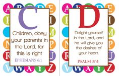 ABC Scriptures for Kids -- love this.