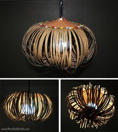 35 Lovely DIY Paper Lamps..This is wicked cool!