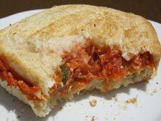 Sandwich vegetal de atún con thermomix,