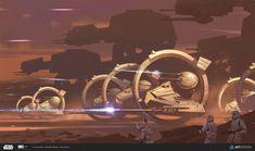 "ILM art department challenge - ""The Ride"", Pavel Goloviy on ArtStation at…"