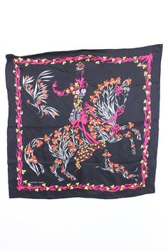 Hermes Scarf Shawl 100% Silk Carre 70  Cheval Fleurie AUTHENTIC #Hermes #Scarf