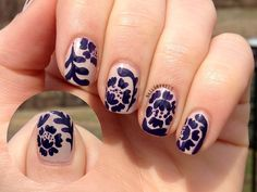 """nailsbykels:  More nail art inspired by mrcandiipants! This is her, I believe she calls it, """"Grown Up Floral"""" design."""