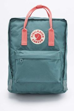 Fjallraven Kanken Classic Forest Green and Pink Backpack - Urban Outfitters