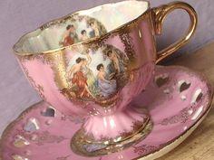 Антикварные старинные чашки: retroa — ЖЖ Pink Tea Cups, Japanese Tea Cups, Antique Tea Cups, Teapots And Cups, Teacups, Tea Pot Set, Chocolate Pots, Tea Cup Saucer, Vintage Tea