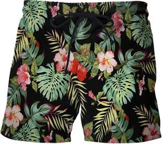 Swimming and Other Marine Sports Love Bite Watermelon Mens Swimming Pants Beach Shorts Suitable for Surfing