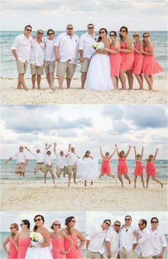 Dean + Amber's Riviera Maya Destination Wedding | Woods Photography. Photos of the wedding party on the beach. Taken at Grand Sunset Princess Wedding in Playa Del Carmen.  #PrincessHotels #weddingphotography
