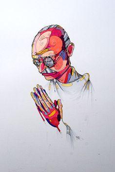 Mahatma Gandhi by @GabrielMesaArt