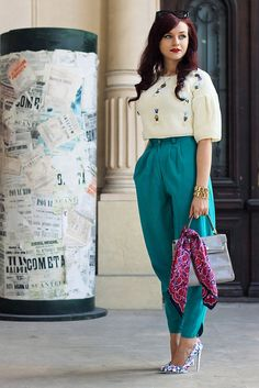 One of my favorite outfits this spring #teal