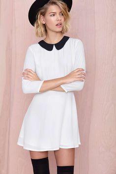 Nasty Gal Wendy Dress - White | Shop Mod at Nasty Gal