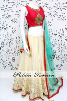 PalkhiFashion Exclusive Full flair Cream Designer Lehenga with Hand Worked Blouse