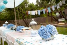 Blue-Hydranga-baby-shower (or pink for girl) ~ cutest baby shower ever!!