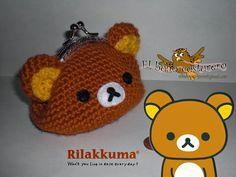 El búho costurero: Monedero crochet Rilakkuma