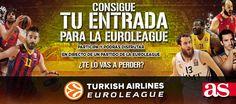 ¿Te gusta el baloncesto?¿Quieres venir a los partidos de Euroliga jugados en España?¡Participa!