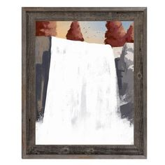"Click Wall Art Waterfall Dusk Framed Painting Print on Canvas Size: 27.5"" H x 23.5"" W x 1"" D"