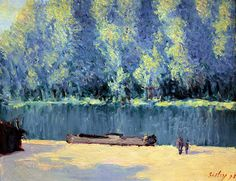 Alfred Sisley - Banks of the Loing, 1891