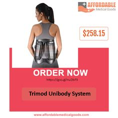 Trimod Unibody System  This Trimod Unibody System frame provides superior posterior and lateral support. This is very useful for lumbar back support. 1-hand, 1-second adjustability provides patient convenience and control for greater compliance.  Click https://goo.gl/nuDbF9 for more detail and its features.