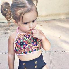2T Crop Top Tutu Crop Top Toddler Swim by Littlemoonclothing
