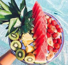 Delicious fruit on a plate. Shop the Matthew Williamson beachwear collection at matthewwillilamson.com