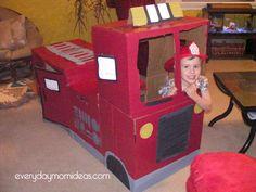 Cardboard Fire Truck
